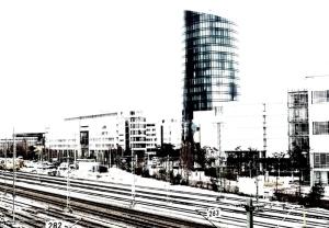 Bahnhof und Turm